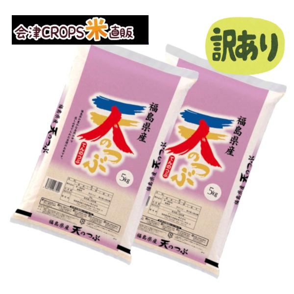 わけあり 買収 福島県産天のつぶ 10kg 5kg×2 白米 送料無料 期日指定不可 正規品 即日発送 令和二年産