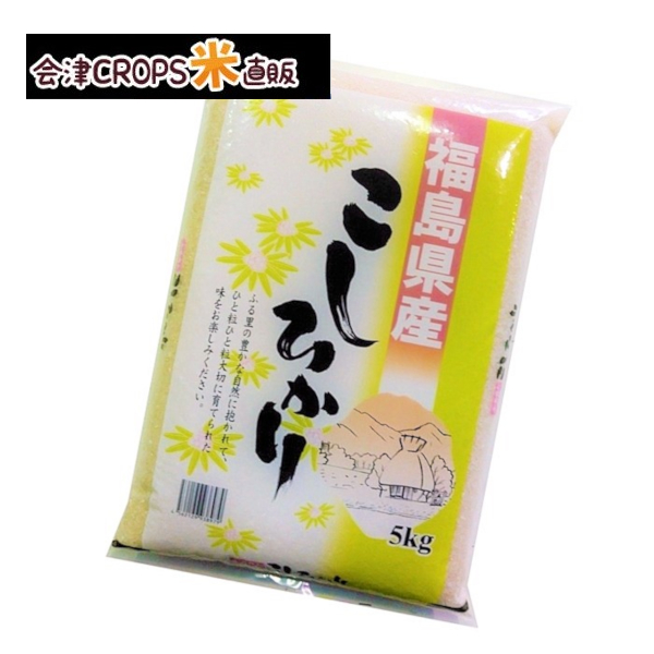 クーポン利用で10%OFF 福島県産コシヒカリ 5kg 白米 期間限定特別価格 令和二年産 お試しサイズ 売り出し 特A受賞地域のお米 送料無料