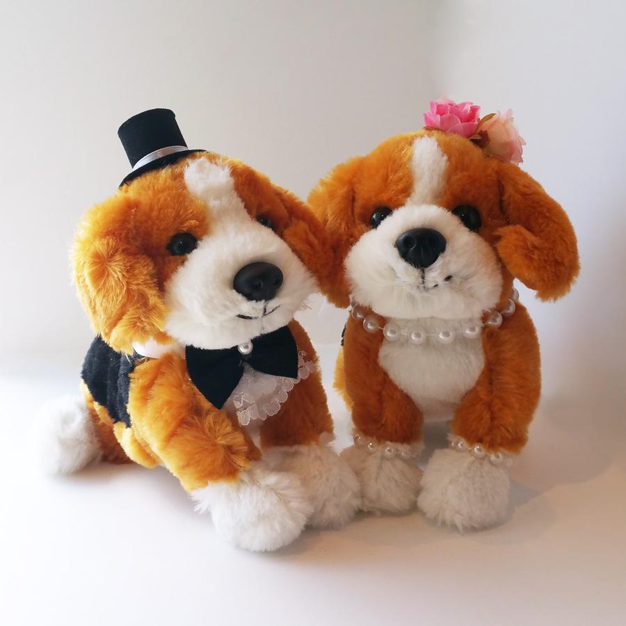 ウェルカムドール 犬 ビーグル 完成品 結婚式 ぬいぐるみ 【ギフト対応】