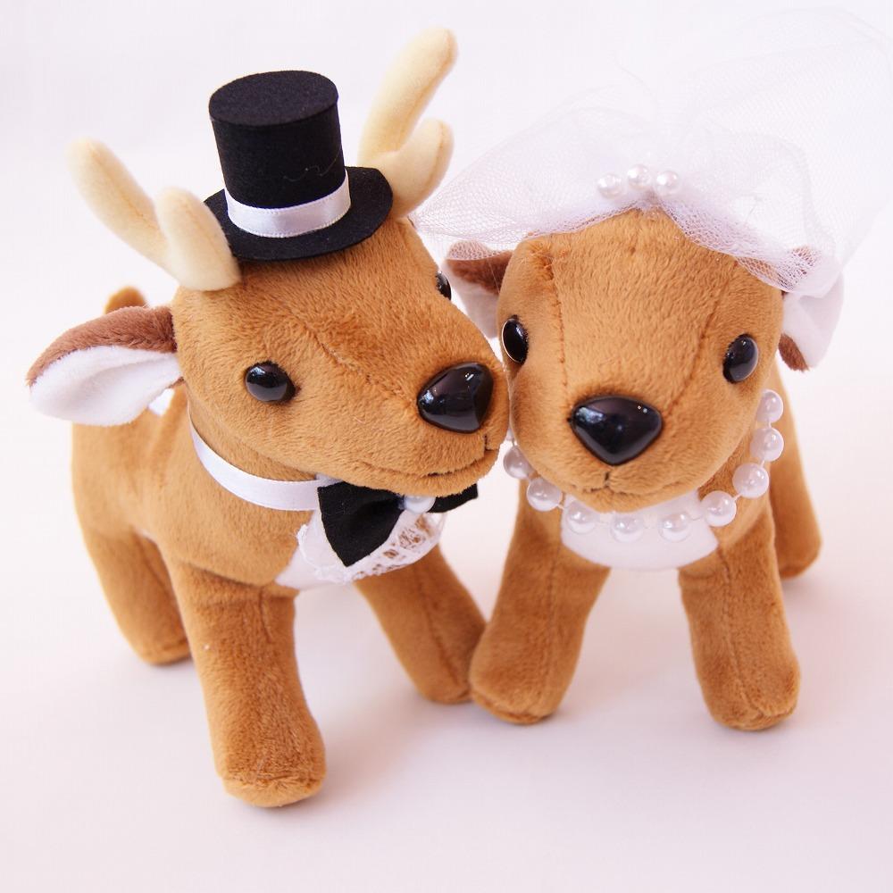 バンビ 結婚式ぬいぐるみ・シカ人形・鹿・バンビ ウェディングドール 小鹿
