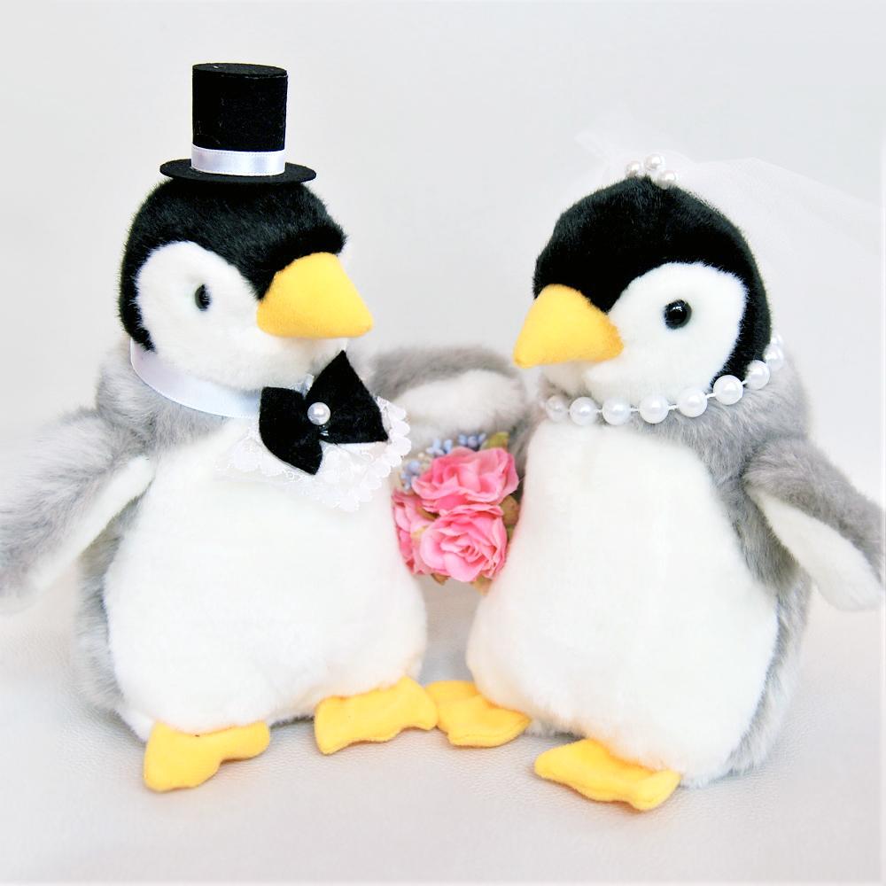 ペンギン 人形 ペンギン ぬいぐるみ ウェディングドール 結婚式ぬいぐるみ 高砂 受付 ドリンクスペース フォトブース 結婚祝い 可愛い