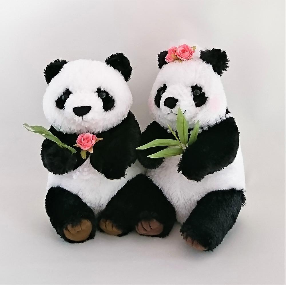 パンダのウェルカムドール ぬいぐるみ 完成品(ギフト対応)結婚式 お祝い 受付装飾に