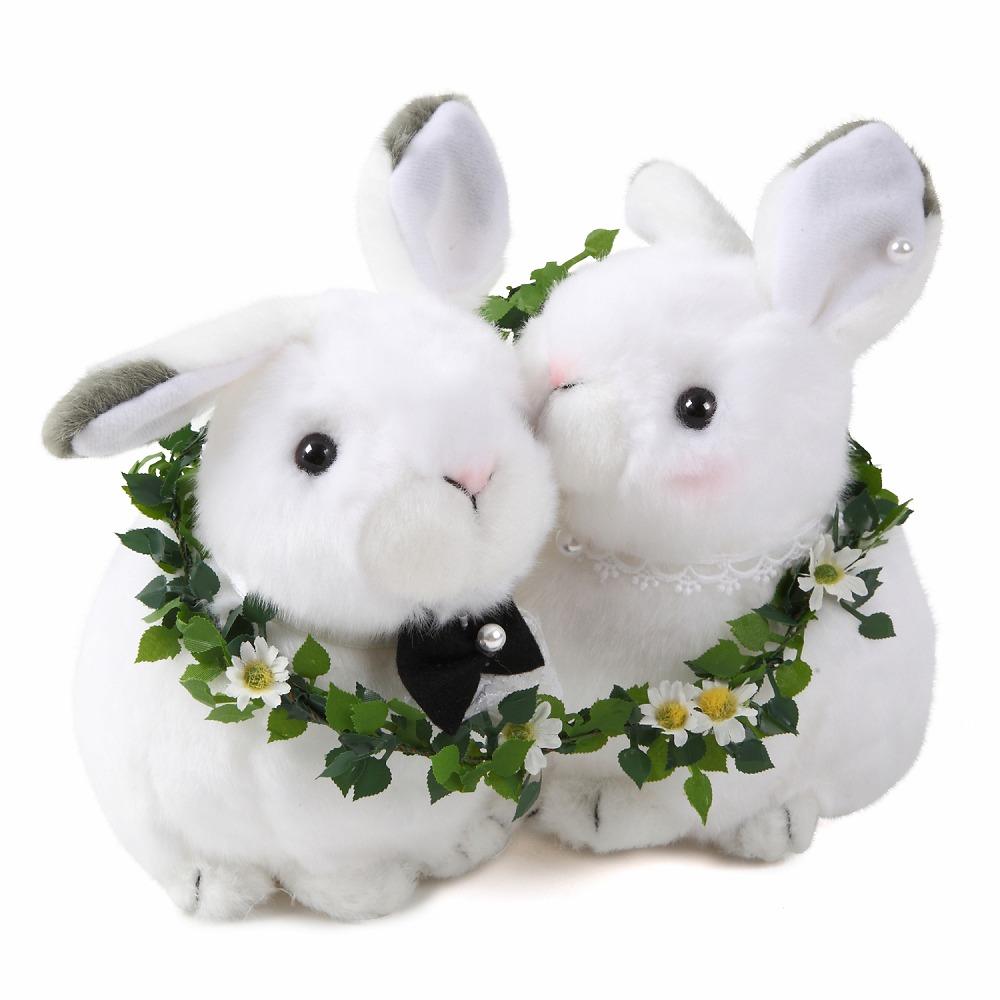 雪うさぎ うさぎ ウサギ 兎 ウェルカムドール 結婚式 ぬいぐるみ 受付