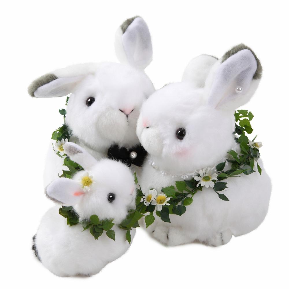 【仲良しファミリーシリーズ】 ウェルカムドール 雪うさぎ親子 3体セット うさぎ Rabbit ラビット 兎 ファミリー