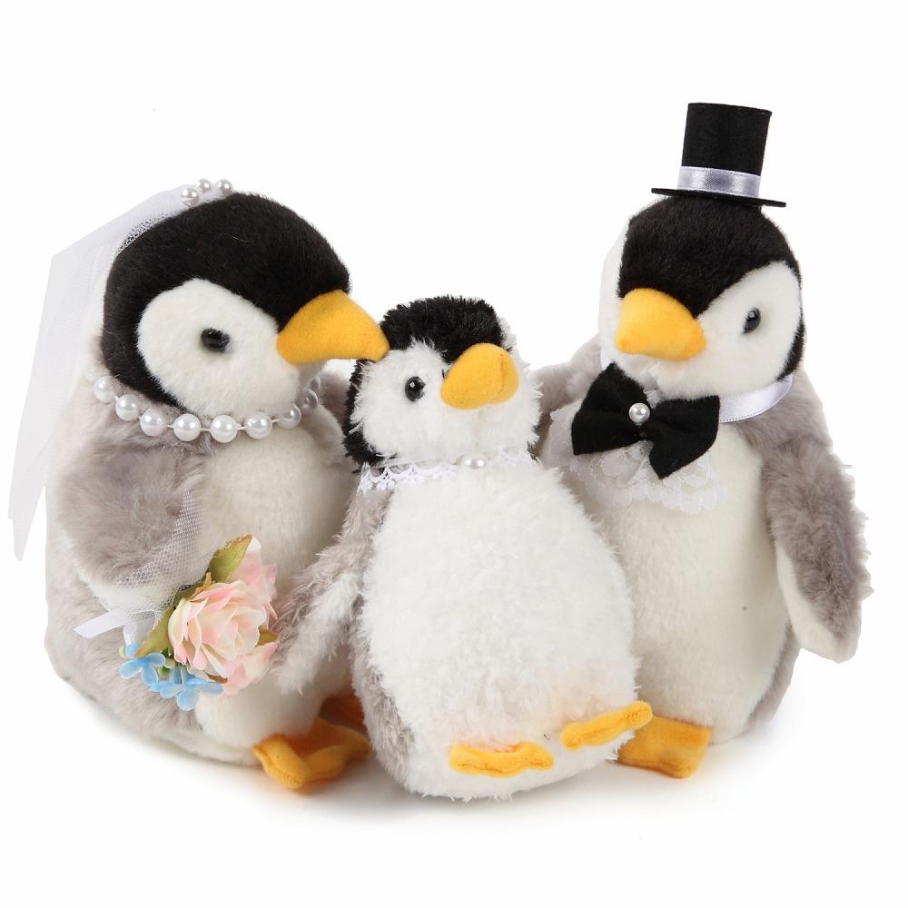 【仲良しファミリーシリーズ】【ペンギンペア+子ども(全3体)】ペンギンのウェルカムドール(ベビー付き) ペンギン 結婚式 ぬいぐるみ ウェディング ウェルカムドール ファミリー 家族 子ども付き ぺんぎん ベビー ギフト 高砂 受付 ウェルカムスペース