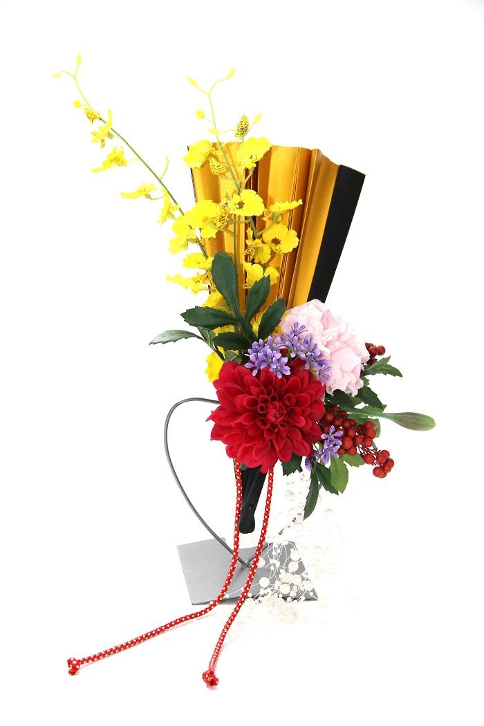 ブライダルブーケ ウェディングブーケ 造花 シルクフラワー 和ブーケ 和扇子ブーケ