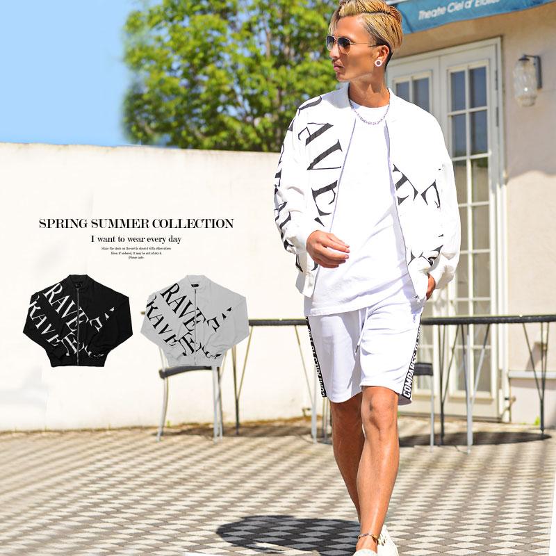 羽織り 夏 薄手メンズ ボンバージャケット 柄 2021新作 お中元 黒 購買 白 ビッグシルエット