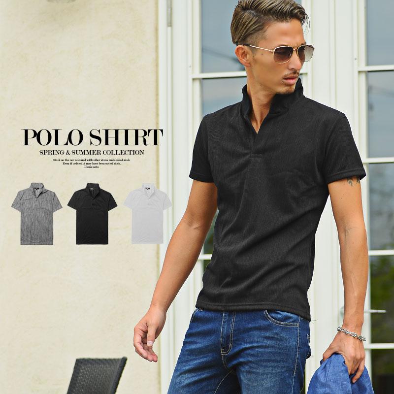 ポロシャツ メンズ オシャレ 半袖 ちょいワル メンズファッション 2021新作 ふくれスラブ 推奨 Men's ゴルフ 物品 チョイ悪 3色