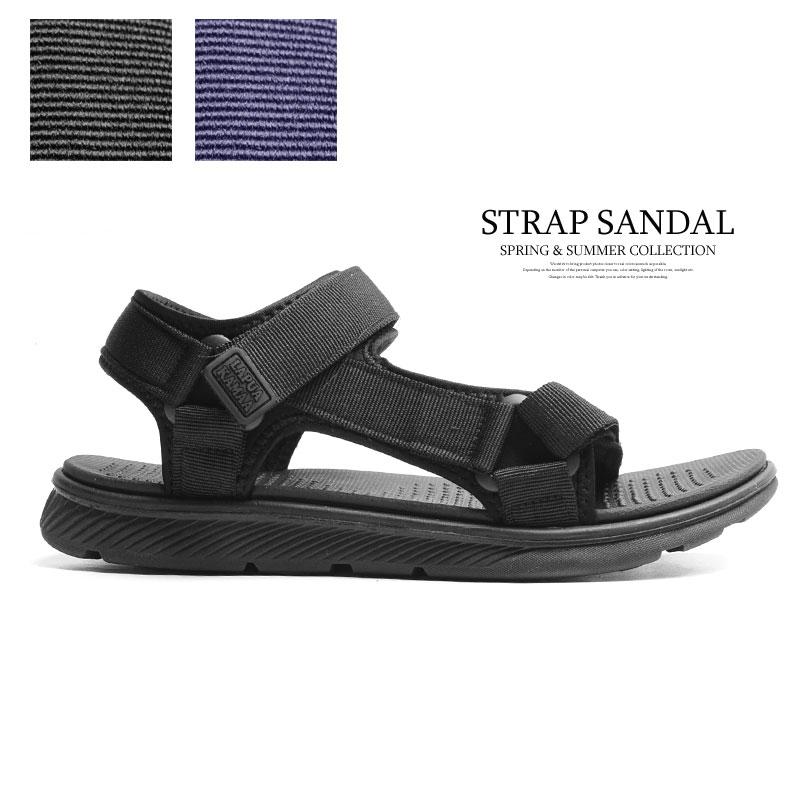 スポーツサンダル 黒 ブラック ネイビー 軽量 軽い サンダル おしゃれ メンズ 靴 2021新作 クッション スポサン 直営ストア 人気ブレゼント