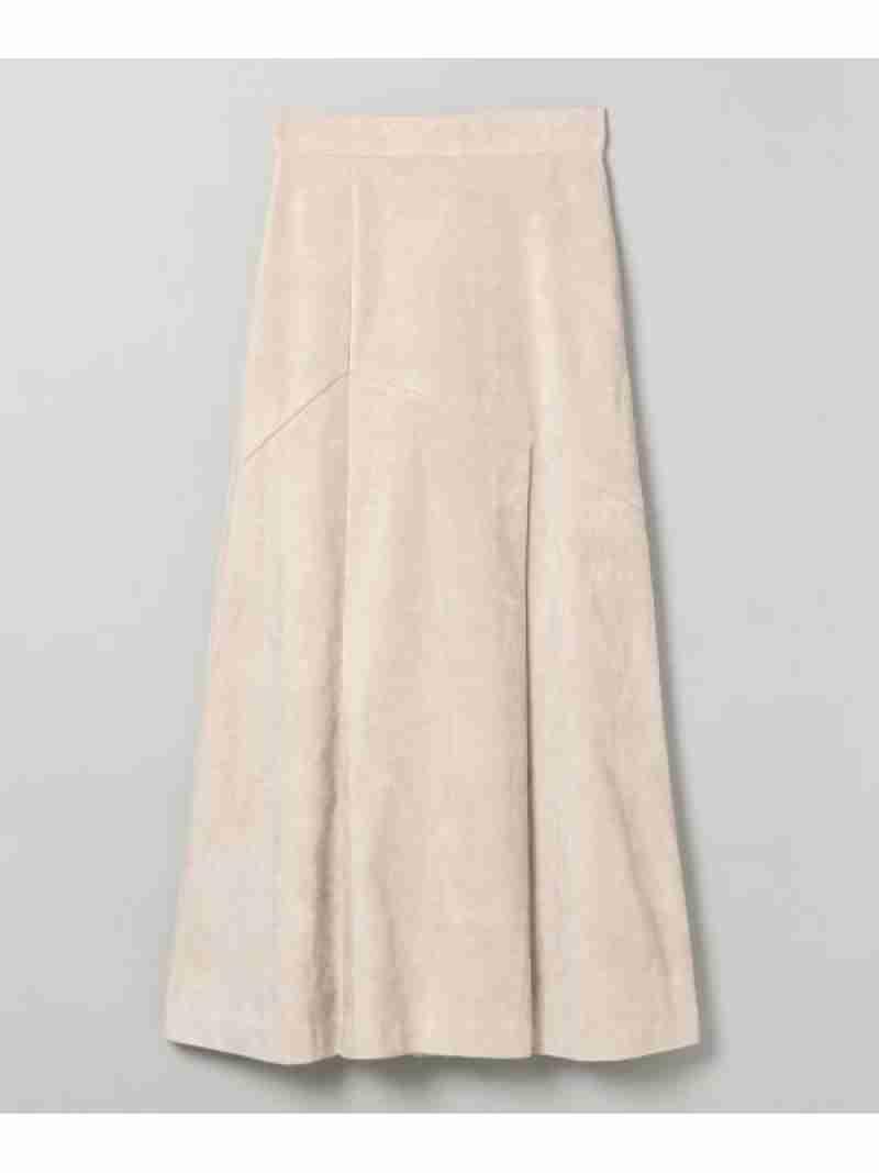 [Rakuten Fashion]ヌバックライクキリカエSK JEANASiS ジーナシス スカート フレアスカート グレー ブラウン ブラック グリーン【送料無料】