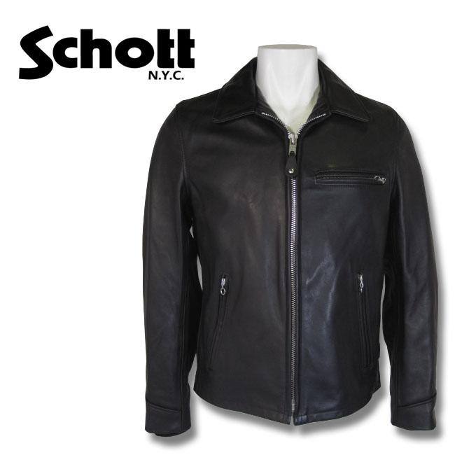 【送料無料・代引手数料無料】 Schott N.Y.C (ショット) アメリカ製 ライダースジャケット レザージャケット ブラック 黒 7209 09 MADE IN USA  103US 【smtb-KD】 革ジャン 取り寄せ商品