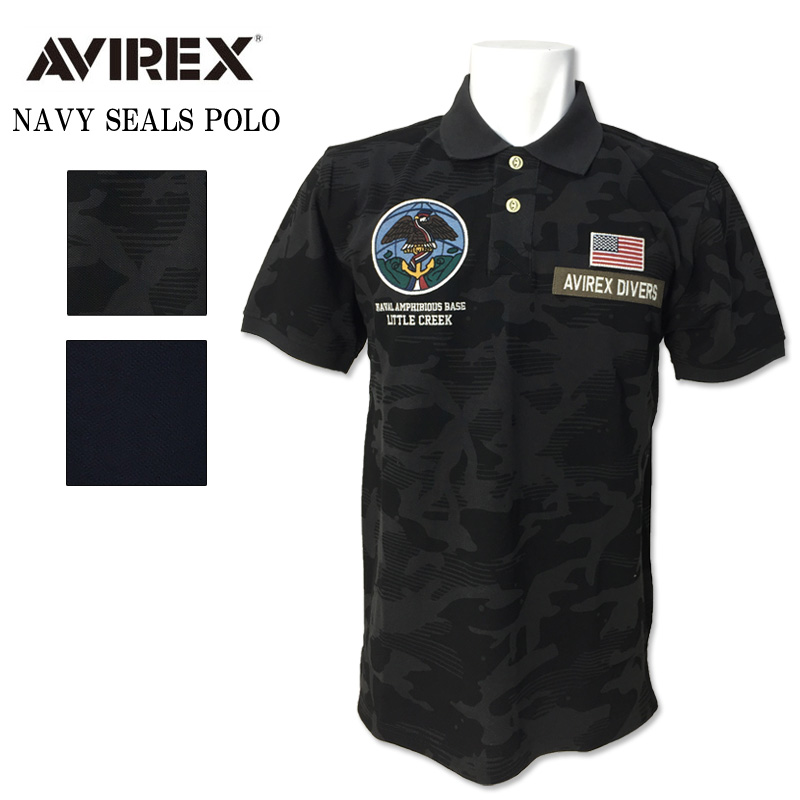 AVIREX(アビレックス) 半袖 ショートスリーブ PATCHED POLO