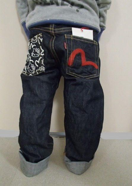 Ebisu牛仔裤KGD8000EVKT凯蒂猫协作牛仔裤少年Ebisu限制生产EVISU,evisu,エヴィス,Ebisu牛仔裤05P10Apr12点数05P4Apr12