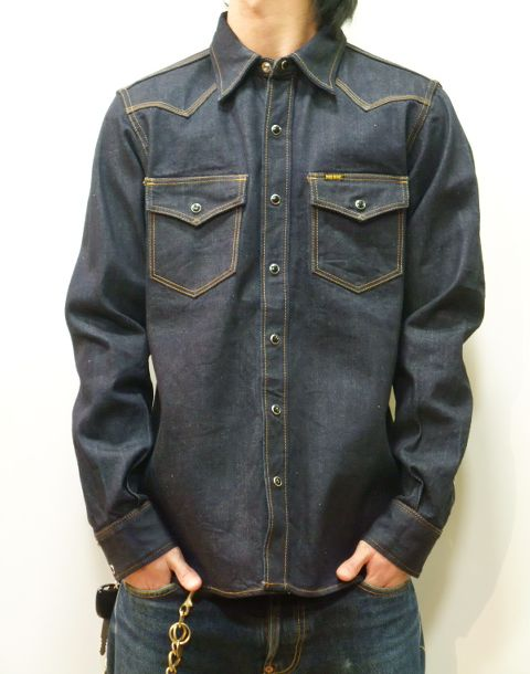 ce521dcb23 iron heart ihsh33 super-thick 12 oz denim western shirt made in Japan