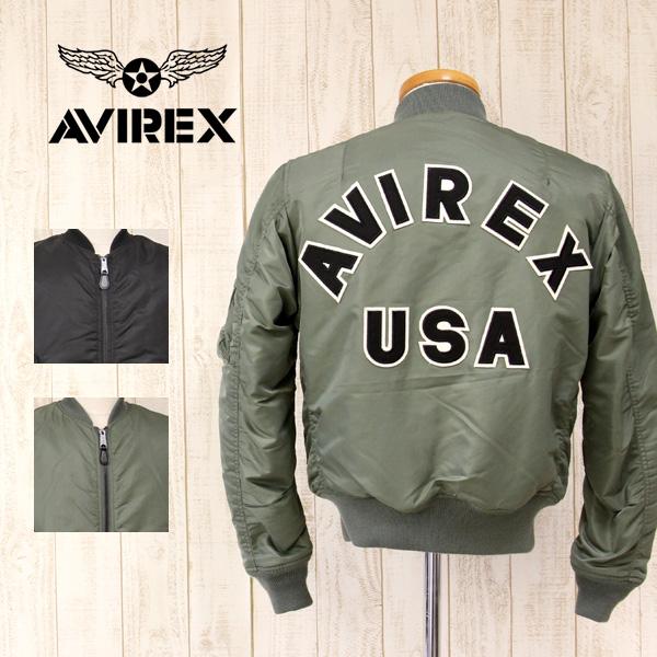 【送料無料】AVIREX アビレックス MA-1 COMMERCIAL LOGO コマーシャル ロゴ ミリタリー フライト ジャケット メンズ 6162164