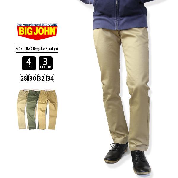 【送料無料】ビッグジョン チノパンツ BIG JOHN チノパンツ M1 CHINO REGULAR STRAIGHT ストレート F804