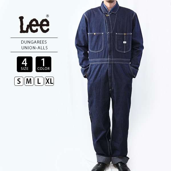 Lee つなぎ オールインワン メンズ 送料無料 ツナギ 人気の製品 リー 休日 UNION-ALLS DUNGAREES LM7213-1