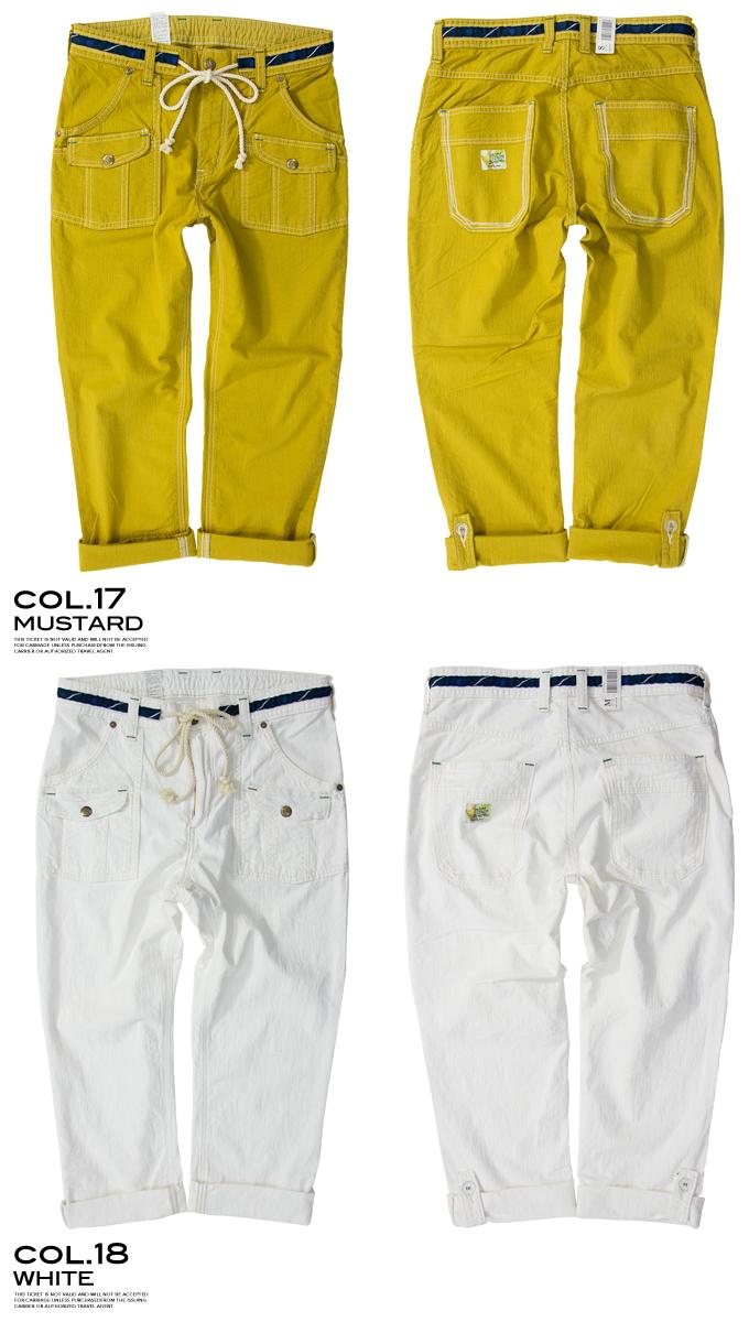 布什E G裤子(香蕉纤维)721RS/E G裤子/香蕉纤维/卷起/kuroppudo/2WAY
