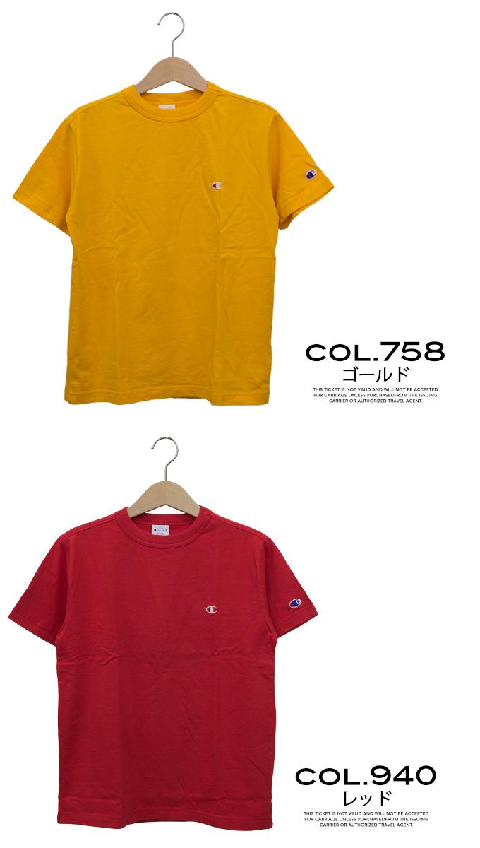 一点标识刺绣BASIC T恤C3-H359/人/女士/男女两用/CHAMPION/圆领囗/短袖/针织/C标识/糖果舵/休闲/名牌标识/刺绣