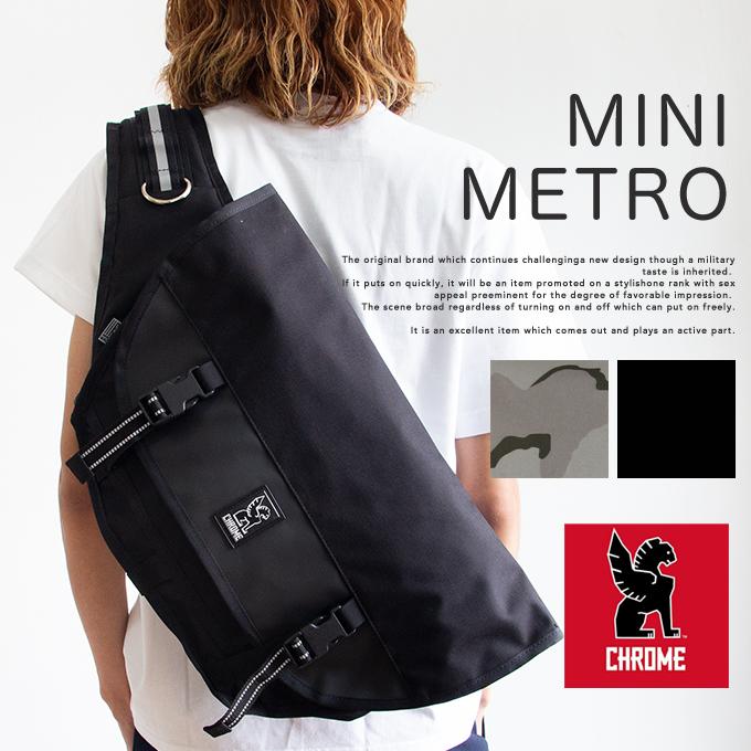【 CHROME クローム 】 MINI METRO ミニメトロ メッセンジャーバッグ BG001 / バッグ ショルダーバッグ かばん サイクリング カジュアル アウトドア 20.5L 防水 ロゴ ブランド メンズ レディース ユニセックス chrome バッグ クローム バッグ
