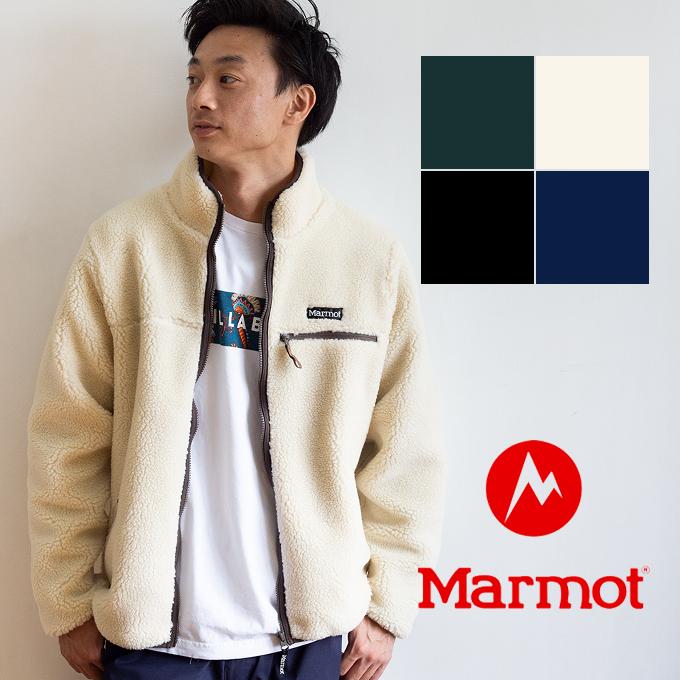 【 Marmot マーモット 】 Sheep Fleece Jacket シープフリースジャケット TOMOJL38 / 長袖 アウター ジャケット ジップアップ ボア フリース 胸ポケット ロゴ ブランド 秋冬 カジュアル 暖か シンプル メンズ レディース ユニセックス