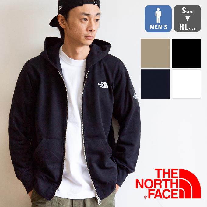 【 THE NORTH FACE ザノースフェイス 】 Square Logo FullZip スクエアロゴフルジップ パーカ NT12037 / 20SS トップス スウェット アウター フーディー メンズ ユニセックス ブランド ファッション ノース ロゴ