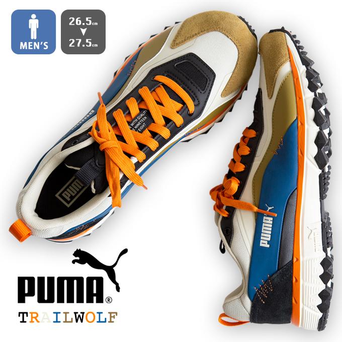 【 PUMA プーマ 】TRAIL WOLF トレイル ウルフ スニーカー 371889 / トレイルランニング ローカット 26.5 27.0 27.5 Overcast Gibraltar Sea シューズ 靴 メンズ /