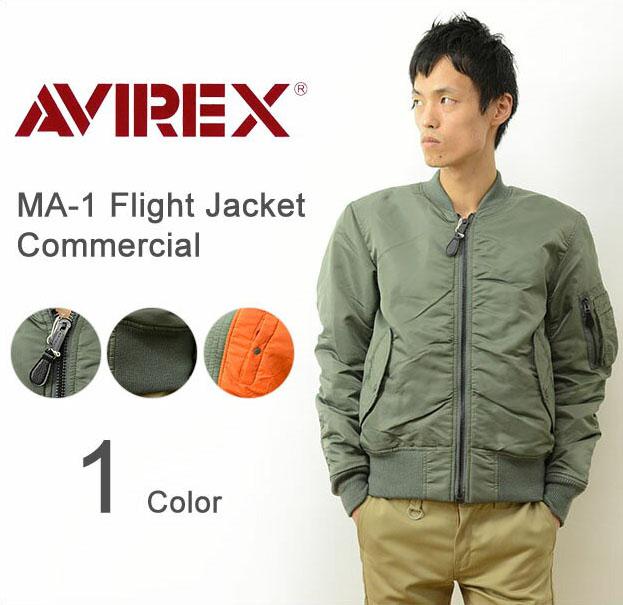 AVIREX(アヴィレックス)MA-1 フライトジャケット COMMERCIAL メンズ アウター アビレックス USA エムエーワン コマーシャル ボンバー ジャケット ブルゾン アメカジ ミリタリー リバーシブル オリーブ カーキ 大きいサイズ XL 【6132077】
