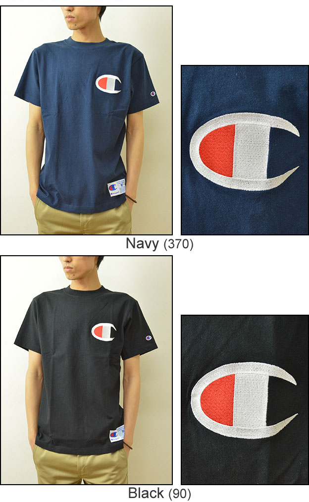 e1b52e1698bc ... Heavyweight champion (champion) big logo crew neck short sleeve T shirt  mens logo T