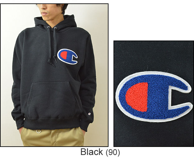 597a15b1 ... Champion (champion) big logo sweatshirts pull Parker mens Womens big C  emblem sweat pullover