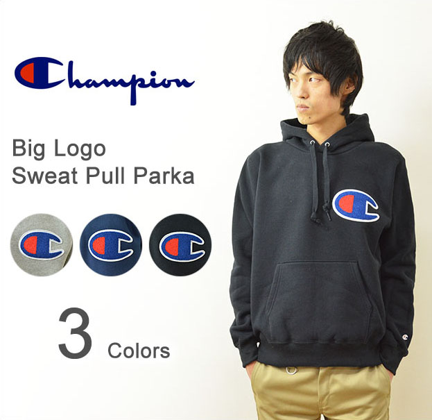 6e9bf087 JEANSBUG: Champion (champion) big logo sweatshirts pull Parker mens Womens big  C emblem sweat pullover hood sentence embroidery big action-style thick  soles ...