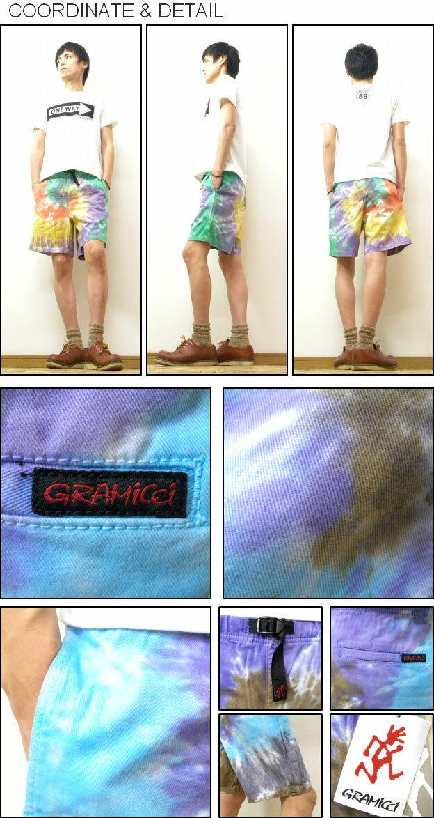 GRAMICCI ( gramicci ) PSYCHEDELIC SHORTS tie dye pattern climbing shorts outdoor half-pants border