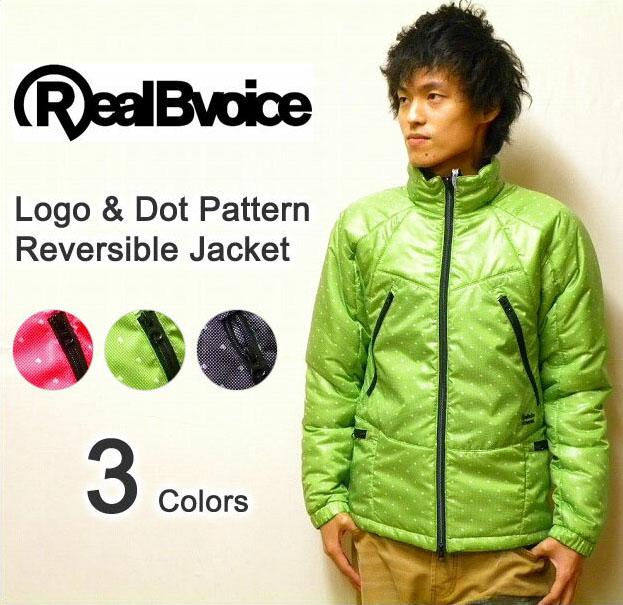 RealBvoice(リアルビーボイス) ロゴドットデザイン-3トーン切り替え リバーシブル中綿ジャケット 【2109471】