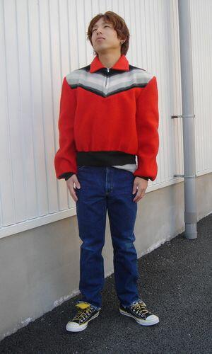 MONTGOMERY WARD BRENT 50'sハーフジップフリースシャツ
