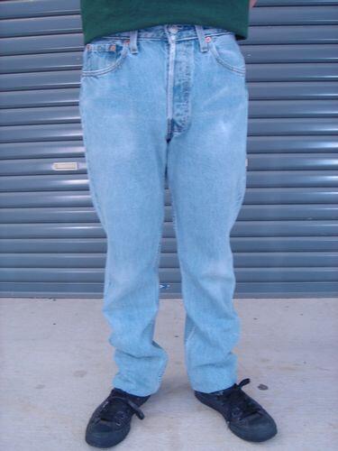 """使用李维斯 (Levi)""""501""""二手牛仔裤牛仔裤牛仔牛仔裤"""