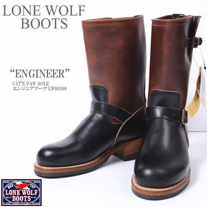 """LONE WOLF BOOTS ロンウルフ ブーツ CAT'S PAW SOLE """"ENGINEER"""" エンジニアブーツ LW00300"""