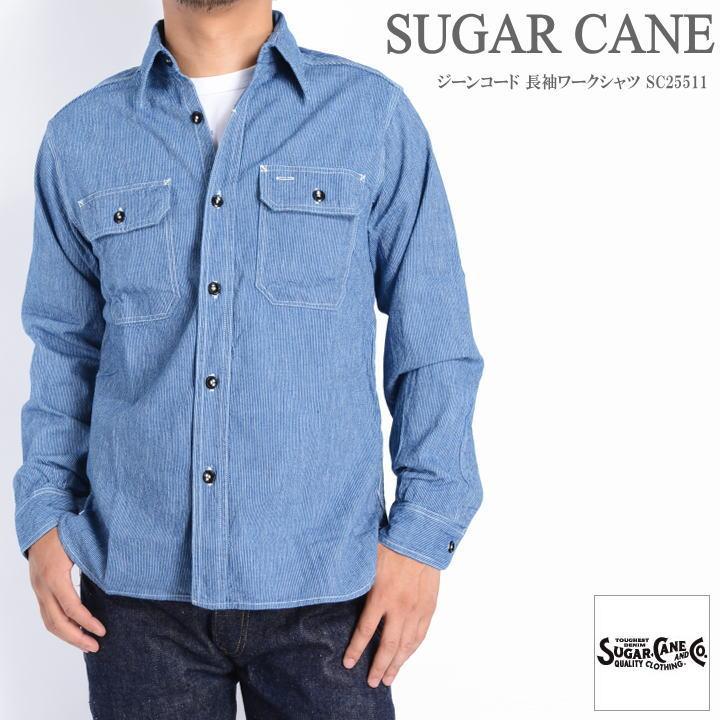 199c6967e31 JEANS FIRST  SUGAR CANE sugar Cane shirt Gene cord long sleeves work shirt  SC25511-128