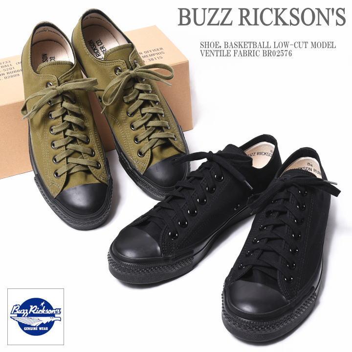 BUZZ RICKSON'S バズリクソンズ SHOE, BASKETBALL LOW-CUT MODEL VENTILE FABRIC ベンタイル ローカット バスケットボールシューズ BR02576