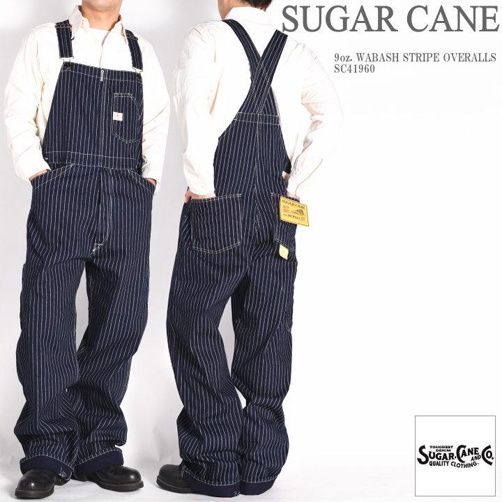 シュガーケーン ウォバッシュ オーバーオール SUGAR CANE 直営限定アウトレット 再入荷 人気商品 ウォバッシュストライプ 9oz. SC41960