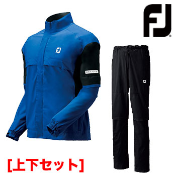 【ゴルフ】【レインウエア】フットジョイ FOOTJOY メンズ ドライジョイズ レインスーツ #85376 上下セット ロイヤル