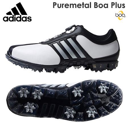 【ゴルフ】【スパイクシューズ】アディダス adidas PURE METAL BOA PLUS ピュアメタル ボア プラス メンズシューズ Q44896