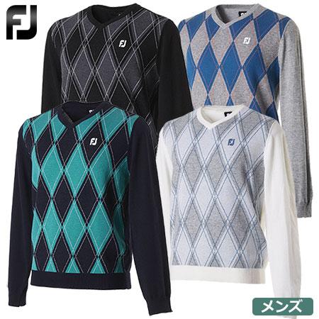 【ゴルフ】【セーター】FOOTJOY フットジョイ 2017秋冬 メンズ アーガイルセーター FJ-F17-M61