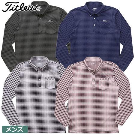 【ゴルフ】【ポロシャツ】Titleist タイトリスト 2017秋冬 メンズ ギンガムチェックボタンダウンシャツ TWMC1710