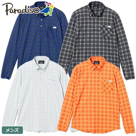 【ゴルフ】【シャツ】BRIDGESTONE GOLF パラディーゾ Paradiso メンズ 長袖ボタンダウンシャツ ISM02F 2017年秋冬