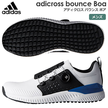 【ゴルフ】【スパイクレス】アディダス adidas メンズ adicross bounce Boa (アディクロス バウンス ボア) スパイクレスシューズ F33573 2018年モデル