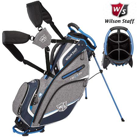 【ゴルフ】【キャディバッグ】 Wilson Staff ウィルソンスタッフ neXus Carry3 スタンドキャディバッグ ネイビー/ロイヤル