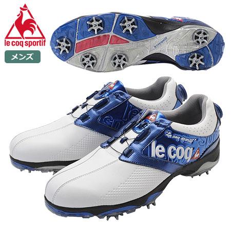 【ゴルフ】【スパイクシューズ】ルコック le coq GOLF メンズ ゴルフシューズ QQ0592 2018FW ホワイト/ブルー