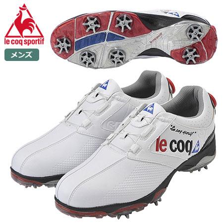 【ゴルフ】【スパイクシューズ】ルコック le coq GOLF メンズ ゴルフシューズ QQ0595 2018FW ホワイト/ホワイト