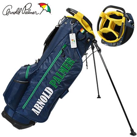 【ゴルフ】【キャディバッグ】アーノルドパーマー arnold palmer スタンドキャディバッグ JYPCB-005 NVY/GREEN