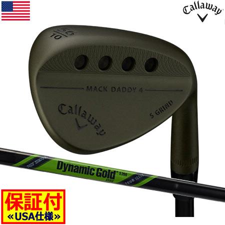 【数量限定】【送料無料】【ゴルフクラブ】【ウェッジ】キャロウェイ CALLAWAY MACK DADDY 4 TACTICAL (マックダディ4 タクティカル) ウェッジ [DG TOUR ISSUE 115(Green)装着](USA直輸入品)